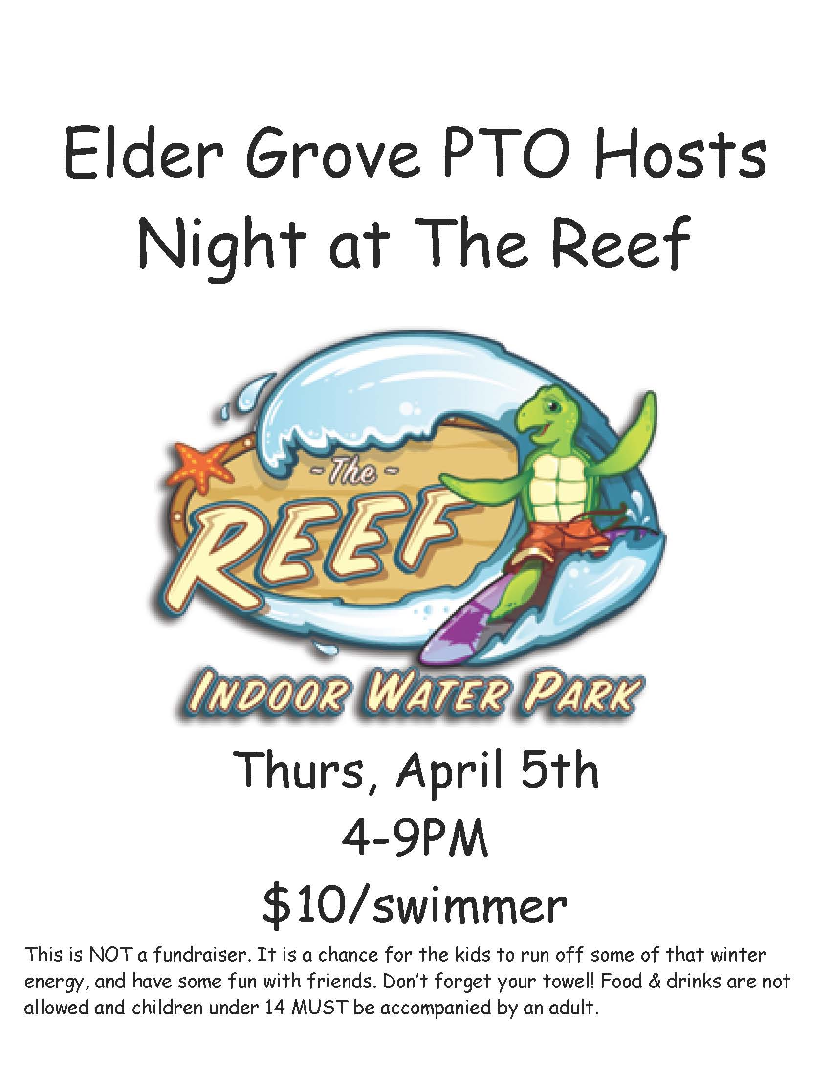 Flyer for reef night