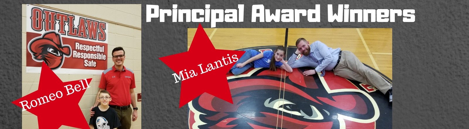 Principal Award Winners and Principals - Mia Lantis and Romeo Bell