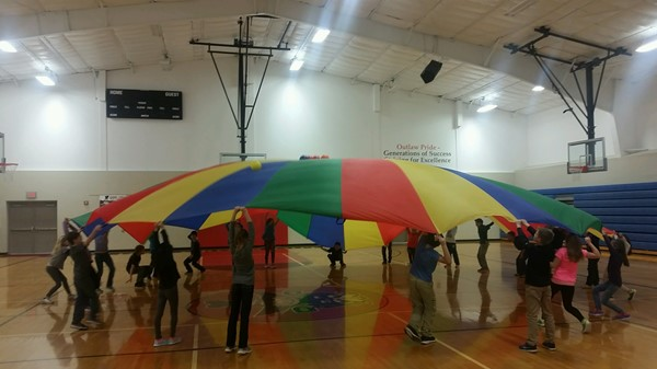 Parachutes are a fun activity for all ages!