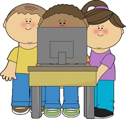 computer with kids